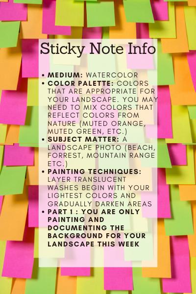 sticky note info
